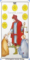 Six of Pentacles Tarot card meaning