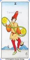 Two of Pentacles Tarot card meaning