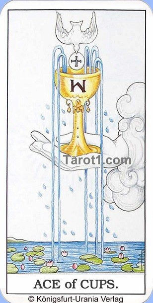 Daily Tarot card today Ace of Cups, Waite Tarot