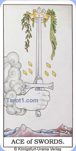 Daily Tarot card today Ace of Swords, Waite Tarot