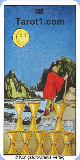 Tomorrow's Aries Horoscope Eight of Cups