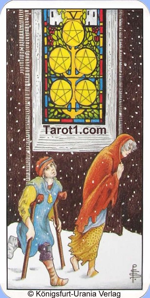 Meaning of Five of Pentacles from Rider Waite Tarot