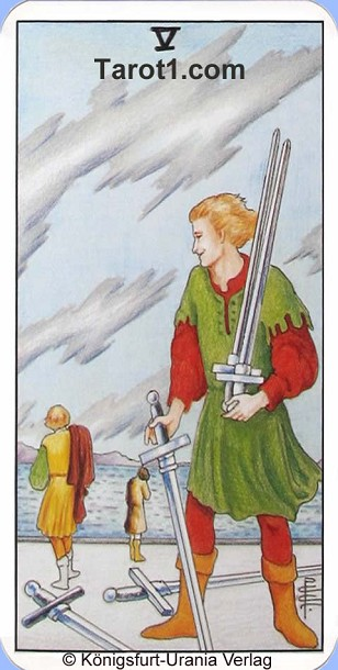 Today's Taurus Horoscope Five of Swords