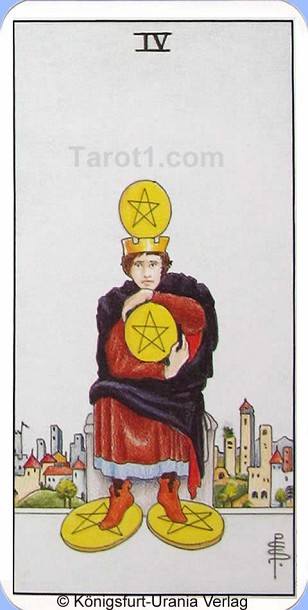Tomorrow's Aries Horoscope Four of Pentacles