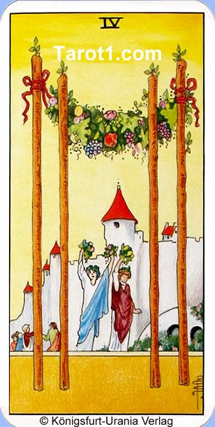 Tomorrow's Taurus Horoscope Four of Wands