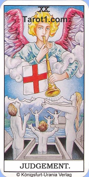 Daily Tarot card tomorrow Judgement, Waite Tarot
