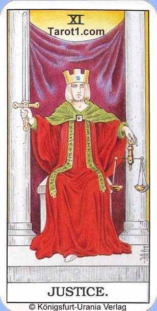 Meaning of Justice from Rider Waite Tarot