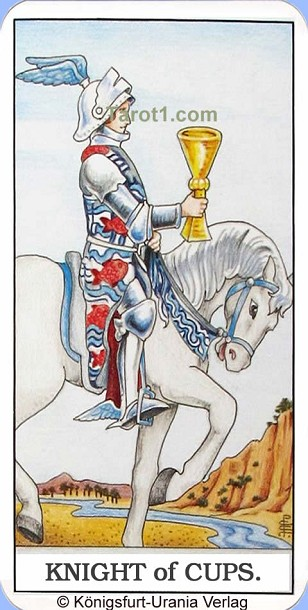 Meaning of Knight of Cups from Rider Waite Tarot