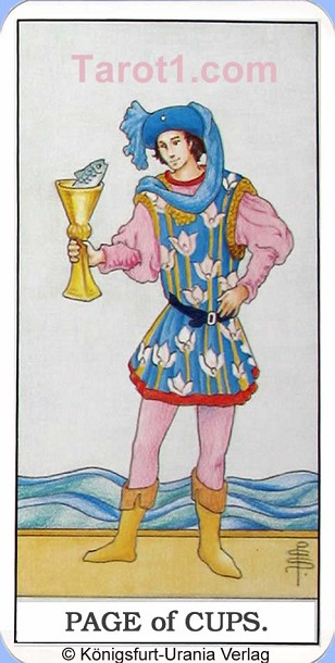 Meaning of Page of Cups from Rider Waite Tarot