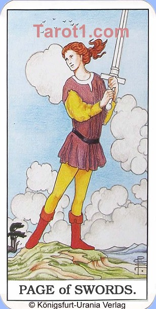 Daily Tarot card today Page of Swords, Waite Tarot