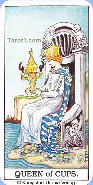 Meaning of Queen of Cups from Rider Waite Tarot