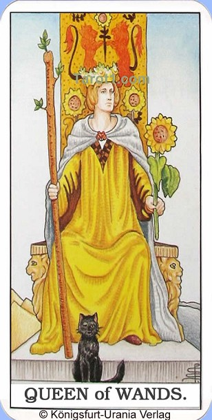 Meaning of Queen of Wands from Rider Waite Tarot