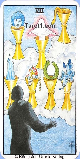 Meaning of Seven of Cups from Rider Waite Tarot