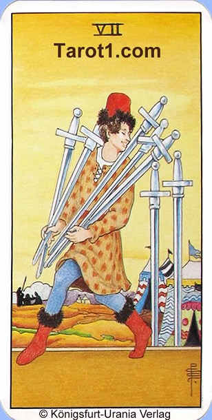 Tomorrow's Taurus Horoscope Seven of Swords
