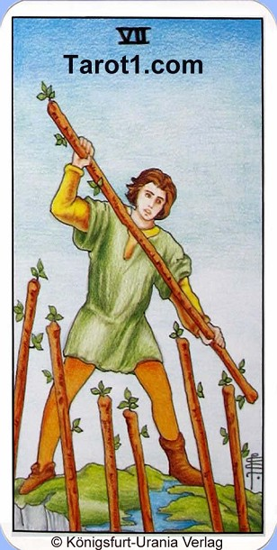 Today's Aries Horoscope Seven of Wands