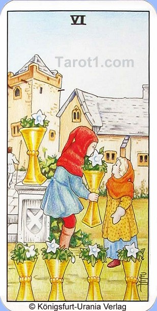 Daily Tarot card today Six of Cups, Waite Tarot