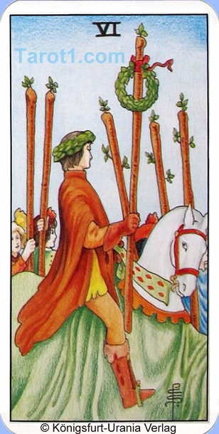 Daily Tarot card today Six of Wands, Waite Tarot
