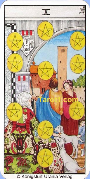 Tomorrow's Aries Horoscope Ten of Pentacles