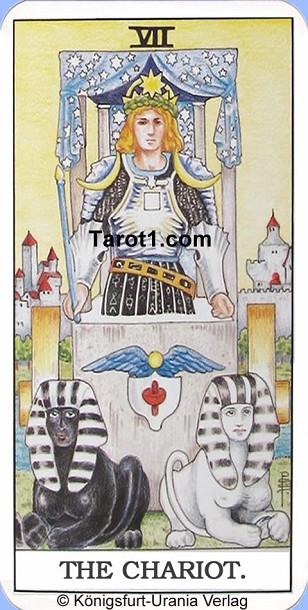 Daily Tarot card today the Chariot, Waite Tarot