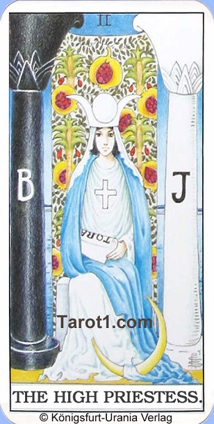 Daily Tarot card tomorrow the High Priestess, Waite Tarot
