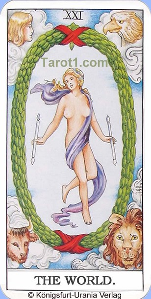 Meaning of the World from Rider Waite Tarot