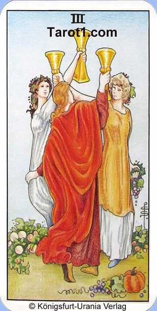 Tomorrow's Aries Horoscope Three of Cups