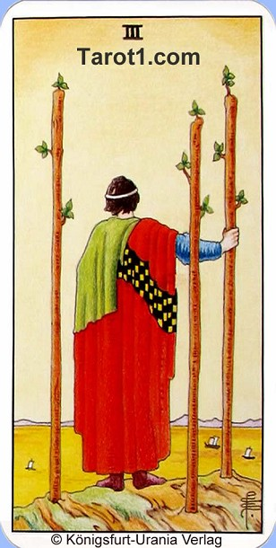 Today's Aries Horoscope Three of Wands