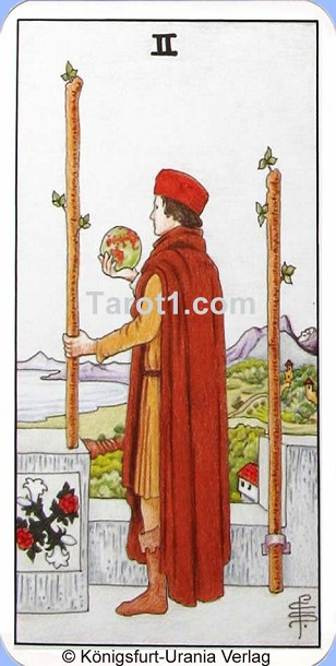 Meaning of Two of Wands from Rider Waite Tarot