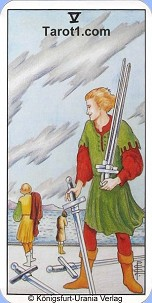 January 1st horoscope Five of Swords