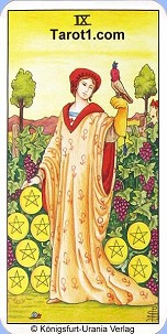 January 8th horoscope Nine of Pentacles