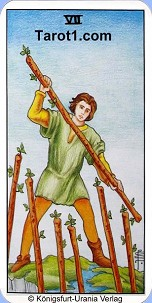 January 25th horoscope Seven of Wands