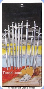 January 23rd horoscope Ten of Swords