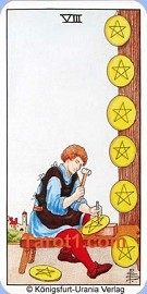 Eight of Pentacles horoscope in six days