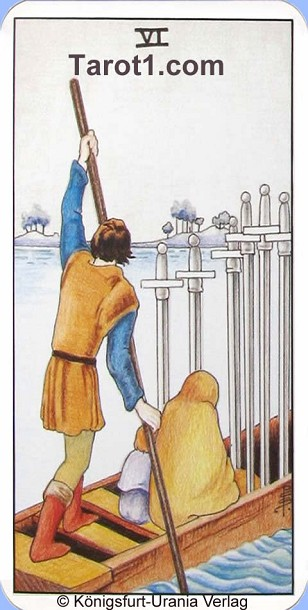 Meaning of Six of Swords from Rider Waite Tarot