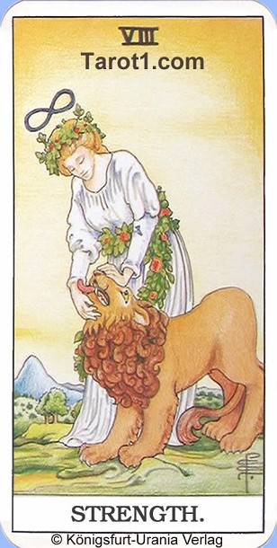 Meaning of Strength from Rider Waite Tarot