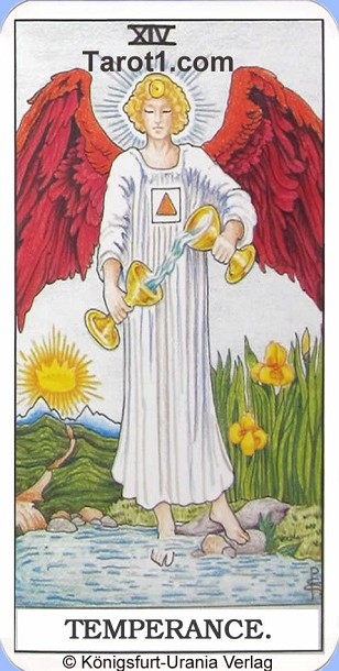 Meaning of Temperance from Rider Waite Tarot