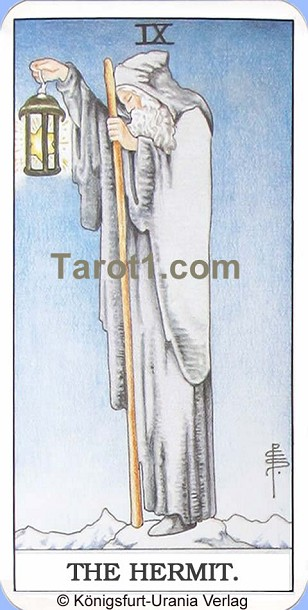 Meaning of the Hermit from Rider Waite Tarot